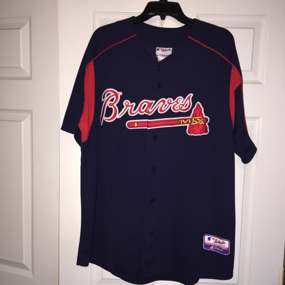 lowest price fbe68 097bc Authentic Majestic Atlanta Braves baseball jersey